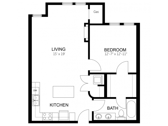1 Bedroom 1 Bathroom Apartment for rent at Siena Apartment Homes in St Louis Park, MN