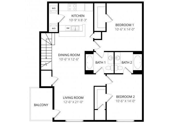 2 Bedrooms 2 Bathrooms Apartment for rent at Arbor Ridge in Milwaukee, WI