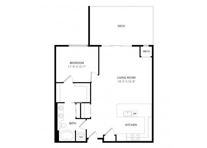 1 Bedroom 1 Bathroom Apartment for rent at 4800 Excelsior in St Louis Park, MN