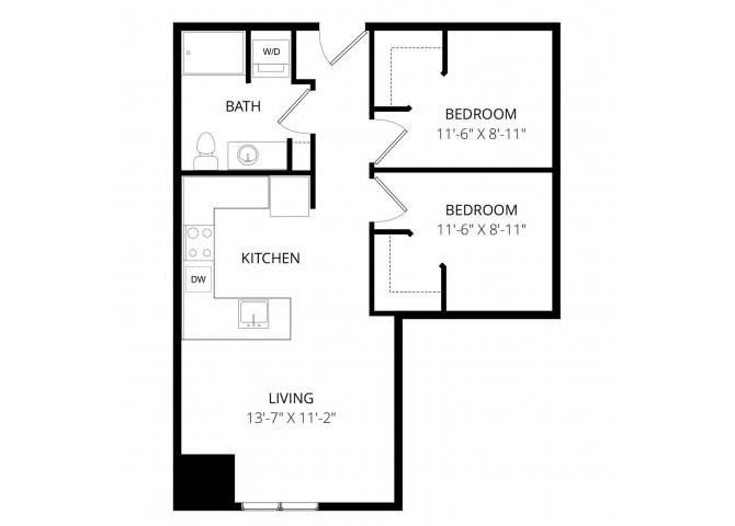 2 Bedrooms 1 Bathroom Apartment for rent at 7 West in Minneapolis, MN