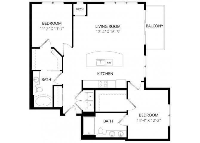 2 Bedrooms 2 Bathrooms Apartment for rent at 4800 Excelsior in St Louis Park, MN