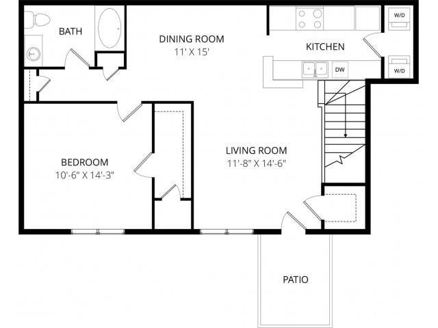 1 Bedroom 1 Bathroom Apartment for rent at Arbor Ridge in Milwaukee, WI