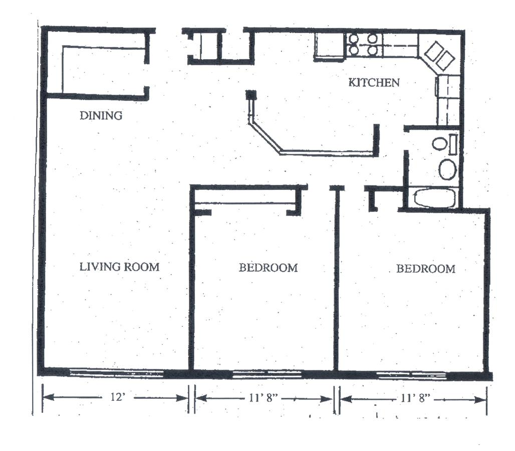 2 Bedrooms 1 Bathroom Apartment for rent at Waldo Heights in Kansas City, MO