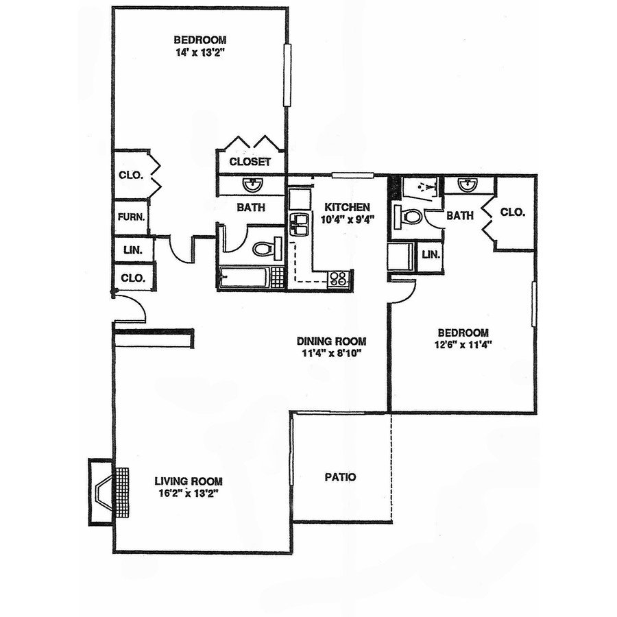 2 Bedrooms 2 Bathrooms Apartment for rent at Willow Creek in Kansas City, MO