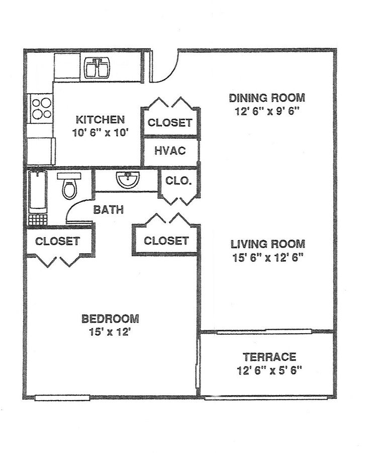 1 Bedroom 1 Bathroom Apartment for rent at Willow Creek in Kansas City, MO