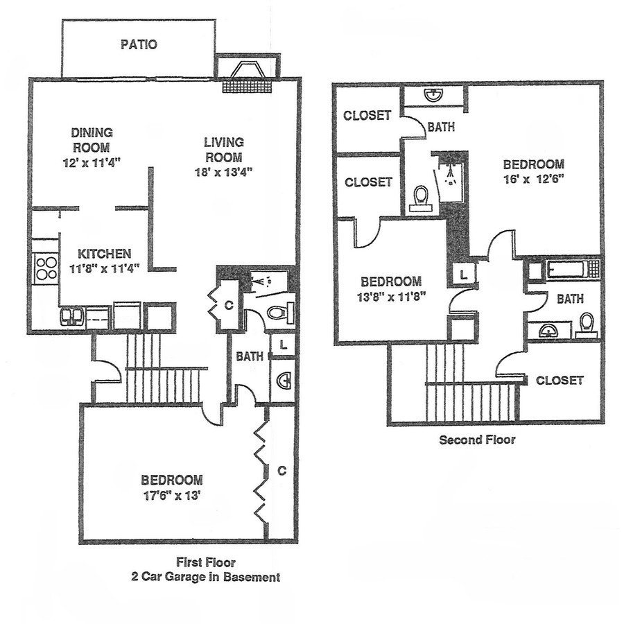 3 Bedrooms 2 Bathrooms Apartment for rent at Willow Creek in Kansas City, MO
