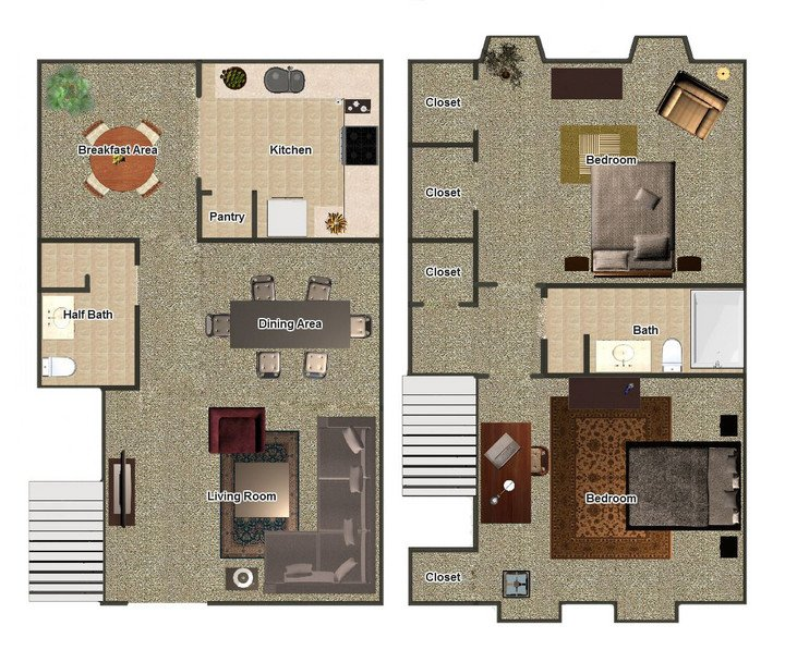 2 Bedrooms 2 Bathrooms Apartment for rent at Hillcrest Apartments in Memphis, TN