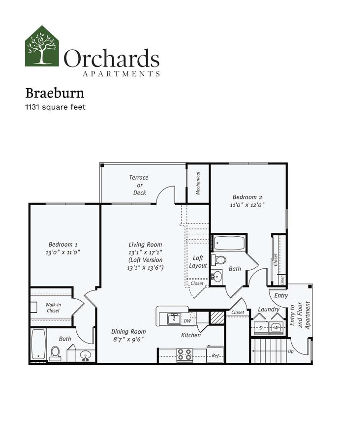 2 Bedrooms 2 Bathrooms Apartment for rent at Orchards Apartments in Marlboro, MA