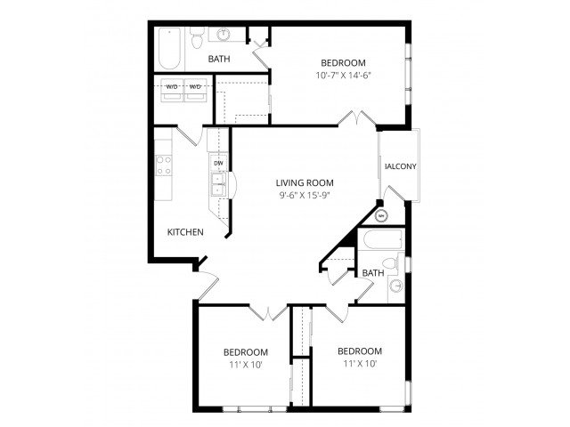 3 Bedrooms 2 Bathrooms Apartment for rent at Visions Apartment Homes in Peoria, AZ