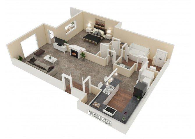 1 Bedroom 1 Bathroom Apartment for rent at Vesada in Riverside, CA