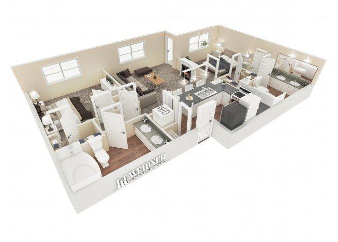 2 Bedrooms 2 Bathrooms Apartment for rent at Vesada in Riverside, CA