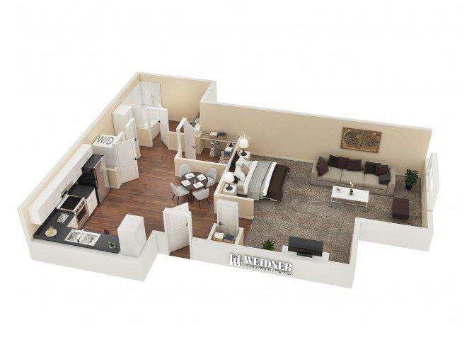 Studio 1 Bathroom Apartment for rent at Vesada in Riverside, CA