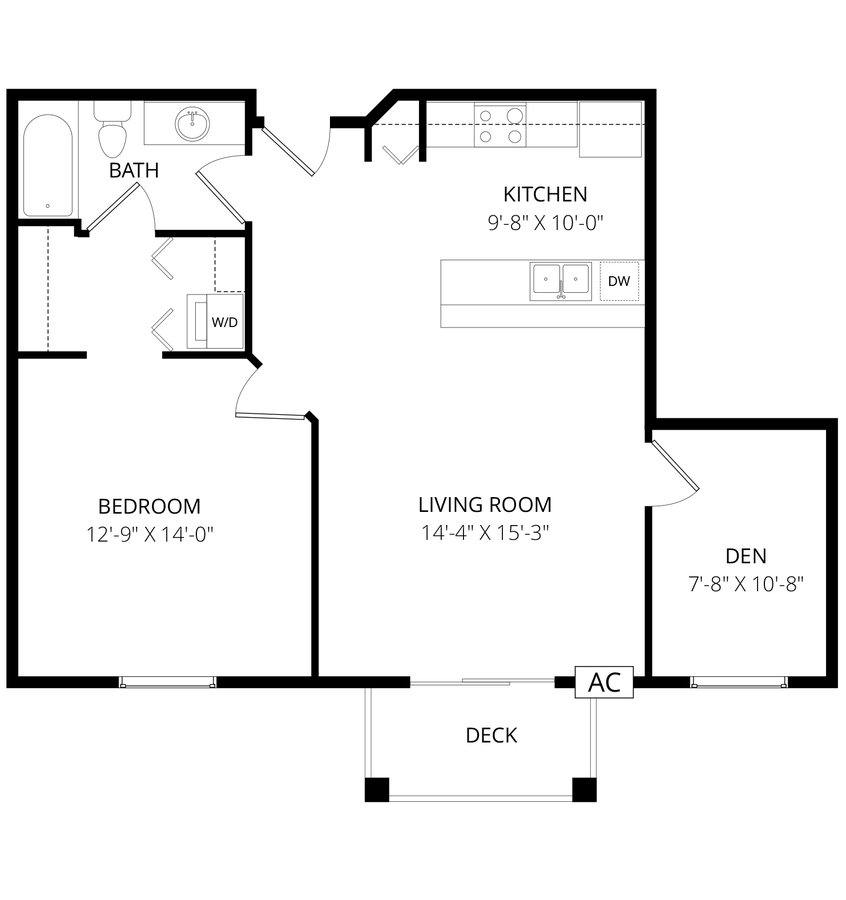 1 Bedroom 1 Bathroom Apartment for rent at Grand River Estates in St Cloud, MN
