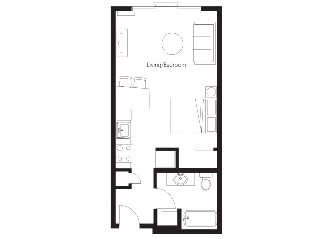 Studio 1 Bathroom Apartment for rent at Leilani Apartment Homes in Seattle, WA