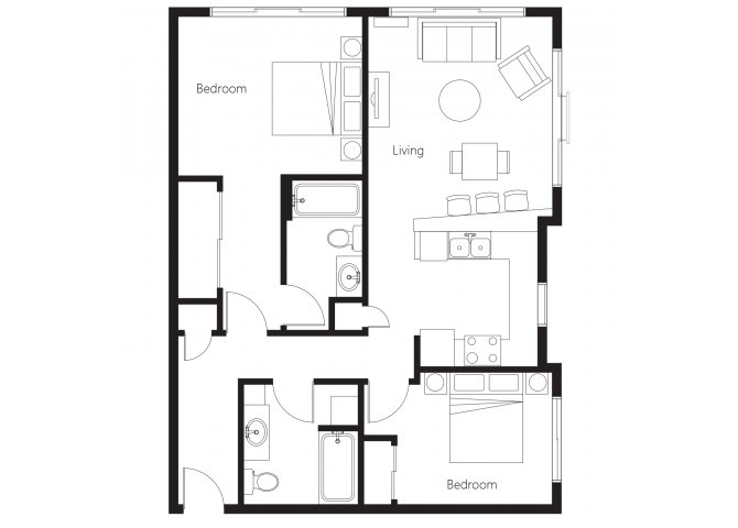 2 Bedrooms 2 Bathrooms Apartment for rent at Leilani Apartment Homes in Seattle, WA