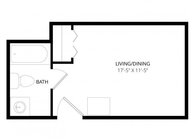 Studio 1 Bathroom Apartment for rent at Continental in Anchorage, AK
