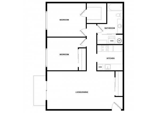 2 Bedrooms 1 Bathroom Apartment for rent at Leilani Apartment Homes in Seattle, WA