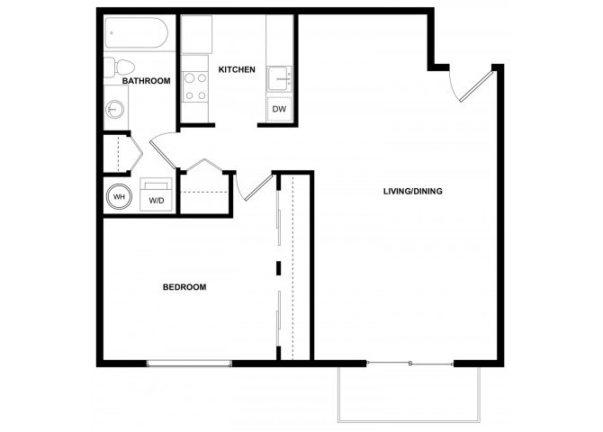 1 Bedroom 1 Bathroom Apartment for rent at Leilani Apartment Homes in Seattle, WA