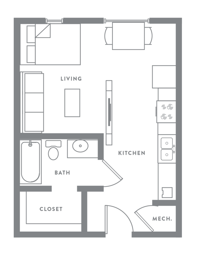Studio 1 Bathroom Apartment for rent at Muse in Omaha, NE