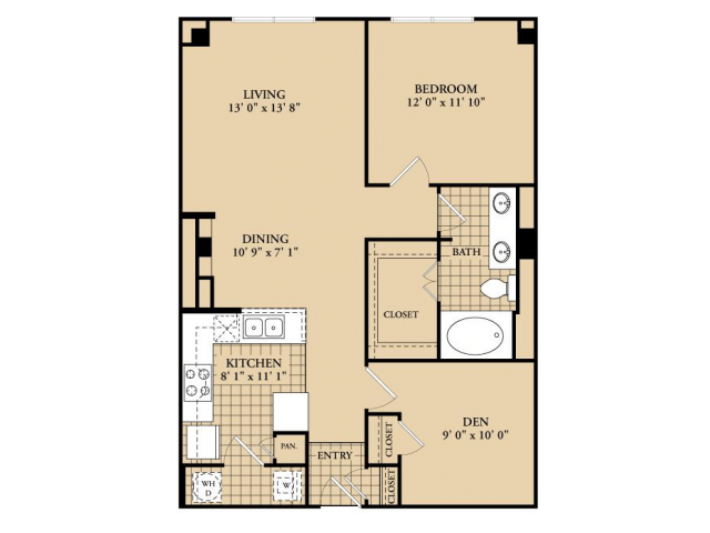 1 Bedroom 1 Bathroom Apartment for rent at Mckinney Uptown in Dallas, TX