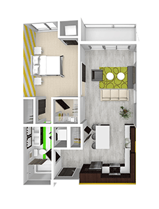 1 Bedroom 1 Bathroom Apartment for rent at Lime Apartments in Minneapolis, MN