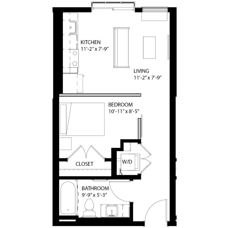 1 Bedroom 1 Bathroom Apartment for rent at Southsider Apartments in Minneapolis, MN