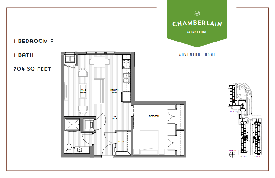 1 Bedroom 1 Bathroom Apartment for rent at Chamberlain @ Eastedge in Richfield, MN