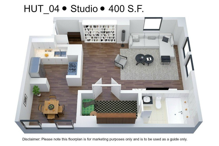 Studio 1 Bathroom Apartment for rent at The Saum & Hutcheson Arms in St Louis, MO