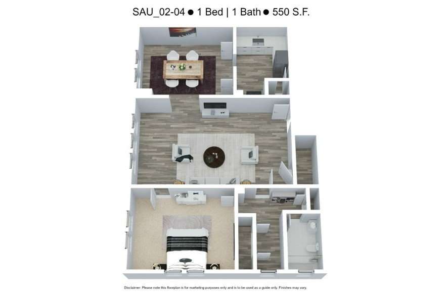 1 Bedroom 1 Bathroom Apartment for rent at The Saum & Hutcheson Arms in St Louis, MO