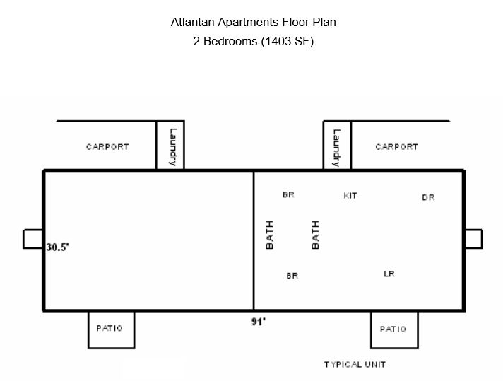 2 Bedrooms 2 Bathrooms Apartment for rent at Atlantan Apartments in Birmingham, AL