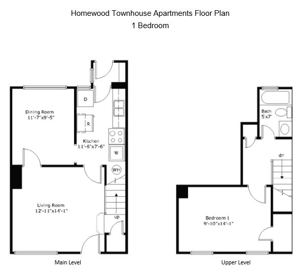 1 Bedroom 1 Bathroom Apartment for rent at Homewood Townhouse Apartments in Birmingham, AL