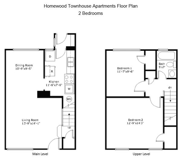2 Bedrooms 1 Bathroom Apartment for rent at Homewood Townhouse Apartments in Birmingham, AL