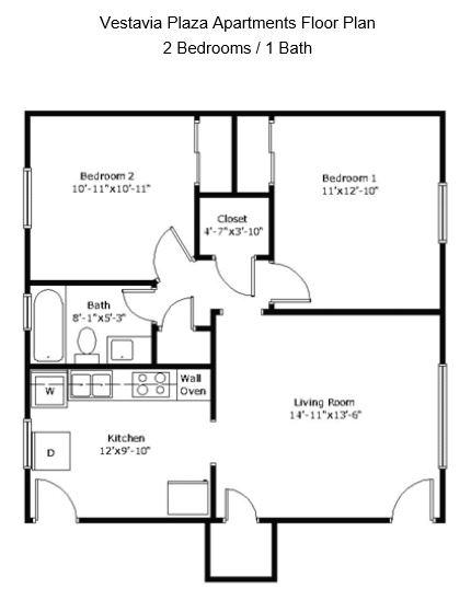 2 Bedrooms 1 Bathroom Apartment for rent at Vestavia Plaza Apartments in Vestavia Hills, AL