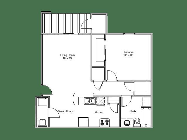 1 Bedroom 1 Bathroom Apartment for rent at Quail Creek Apartments in Springfield, MO