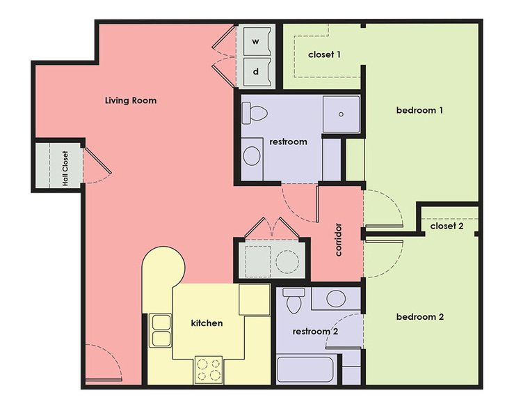 2 Bedrooms 2 Bathrooms Apartment for rent at Capitol Rows in Omaha, NE