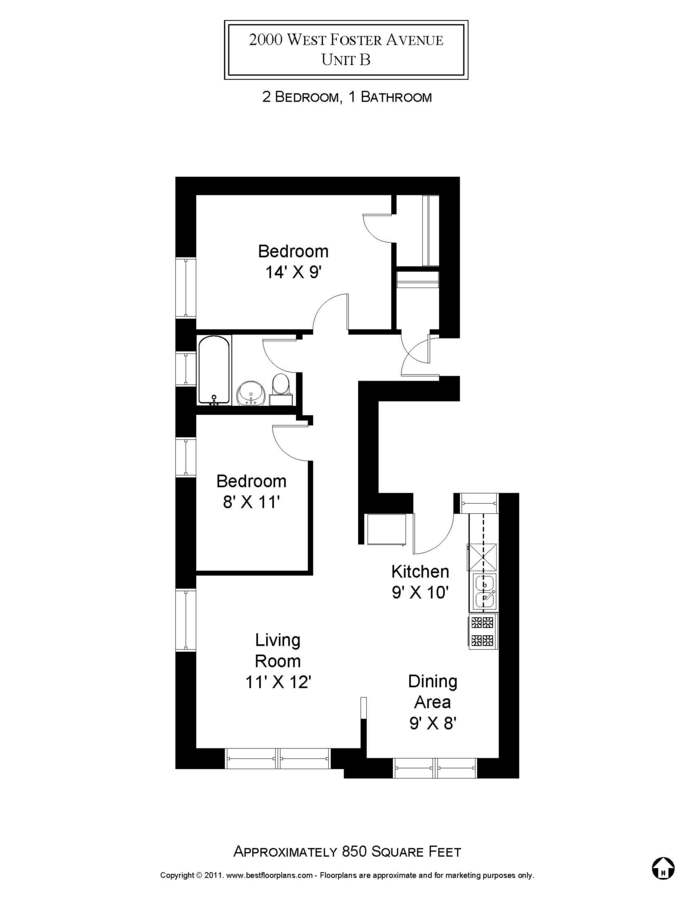 2 Bedrooms 1 Bathroom Apartment for rent at 5202-16 N. Damen / 2000-10 W. Foster in Chicago, IL
