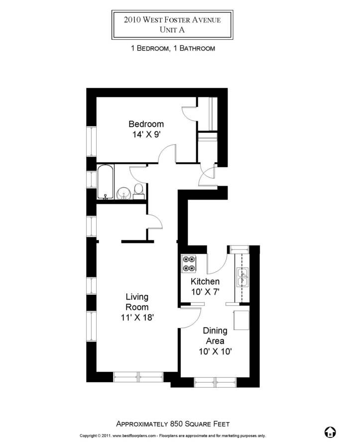 1 Bedroom 1 Bathroom Apartment for rent at 5202-16 N. Damen / 2000-10 W. Foster in Chicago, IL