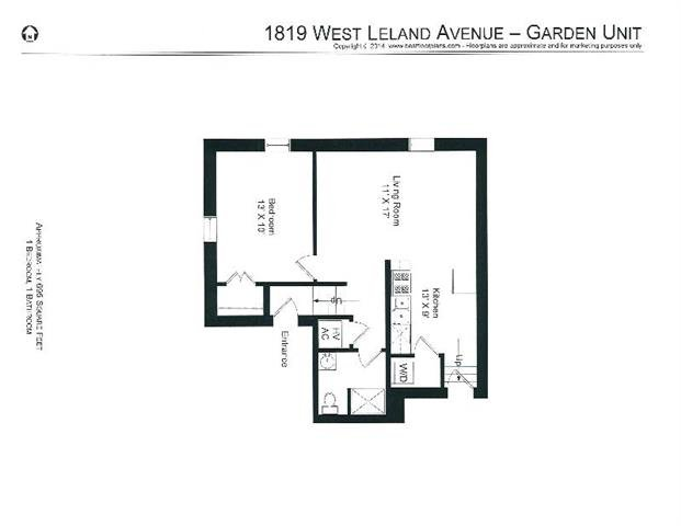 1 Bedroom 1 Bathroom Apartment for rent at 4651-53 N. Wolcott / 1819-29 W. Leland in Chicago, IL
