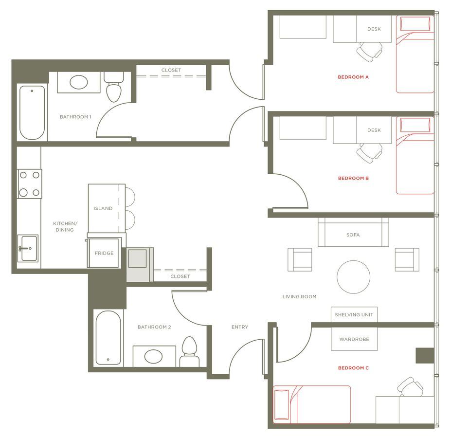 3 Bedrooms 2 Bathrooms Apartment for rent at 1237 West in Chicago, IL