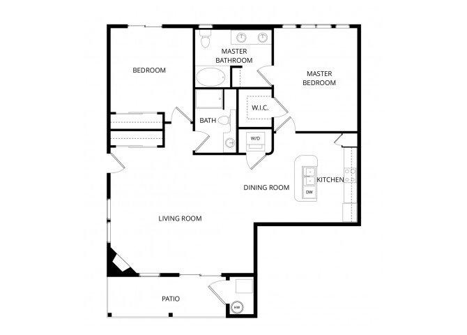 2 Bedrooms 2 Bathrooms Apartment for rent at La Bella Vita in Colorado Springs, CO