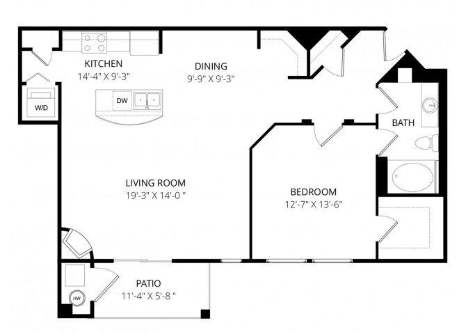 1 Bedroom 1 Bathroom Apartment for rent at La Bella Vita in Colorado Springs, CO