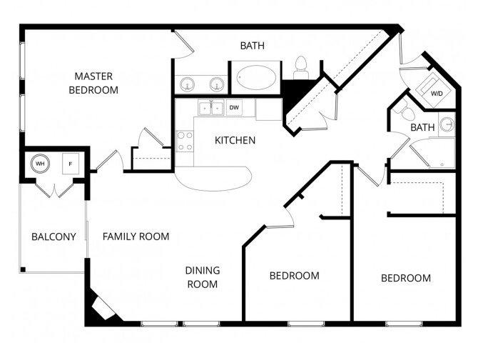 3 Bedrooms 2 Bathrooms Apartment for rent at La Bella Vita in Colorado Springs, CO