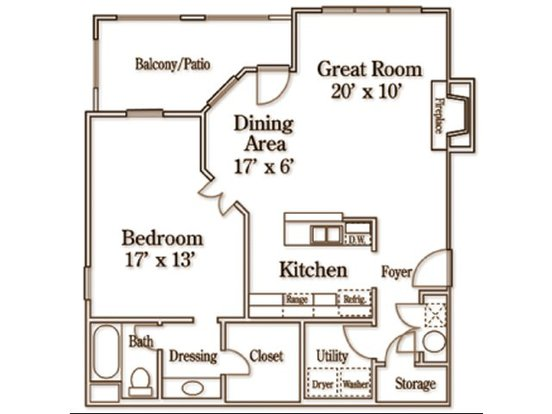 1 Bedroom 1 Bathroom Apartment for rent at Wildforest Apartments in Homewood, AL