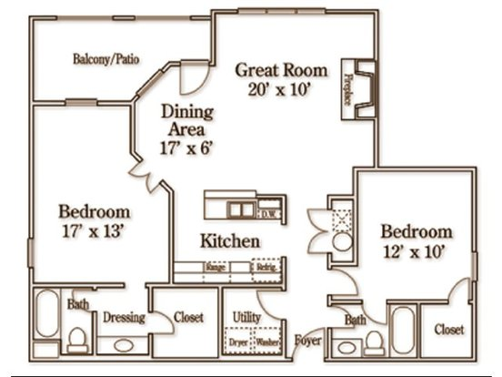 2 Bedrooms 2 Bathrooms Apartment for rent at Wildforest Apartments in Homewood, AL