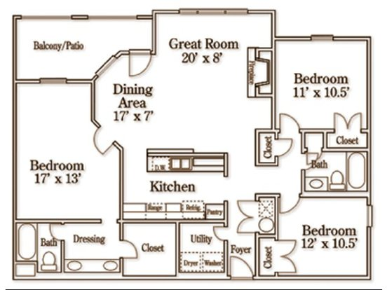 3 Bedrooms 2 Bathrooms Apartment for rent at Wildforest Apartments in Homewood, AL