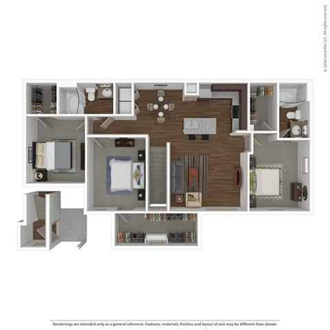 Studio 1 Bathroom Apartment for rent at Villas At Spring Trails in Pflugerville, TX