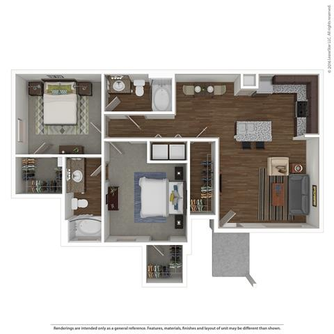 2 Bedrooms 2 Bathrooms Apartment for rent at Villas At Spring Trails in Pflugerville, TX