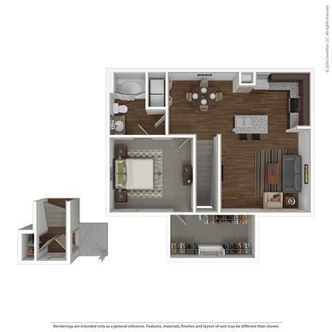 1 Bedroom 1 Bathroom Apartment for rent at Villas At Spring Trails in Pflugerville, TX
