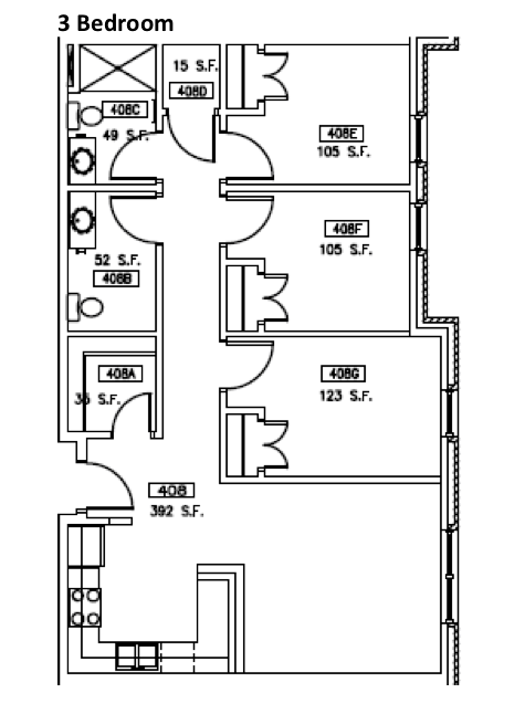 3 Bedrooms 2 Bathrooms Apartment for rent at Opus Hall And Davis Square in Omaha, NE