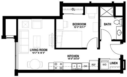 1 Bedroom 1 Bathroom Apartment for rent at Lark At Randall in Madison, WI